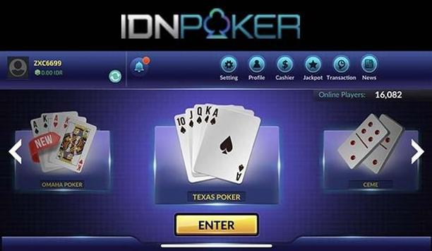 Bermain Texas Hold'em Poker Online Idn